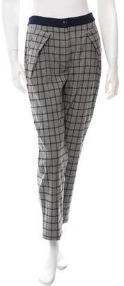 Thakoon Plaid Straight-Leg Pants