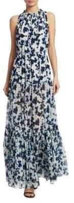 Elizabeth and James Lani Floral Silk Maxi Dress