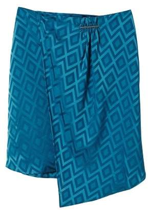 MANGO Flowy printed skirt