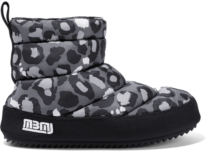 Marc By Marc JacobsMarc by Marc Jacobs Leopard-print quilted shell boots