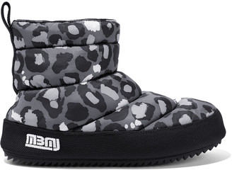 Marc by Marc Jacobs Leopard-print quilted shell boots $305 thestylecure.com