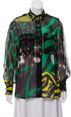 Versace Silk Printed Top