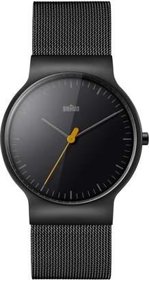 Braun 'Slim Line' Mesh Strap Watch, 38mm