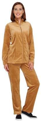 Factory Quacker Regular Velour Jacket & Pants Set w/Rhinestones