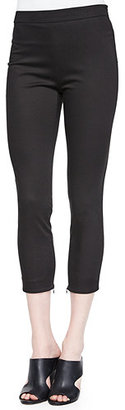 Theory Tonerma Stretch-Knit Sateen Pants $265 thestylecure.com