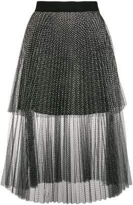 Christopher Kane metallic tulle tiered skirt