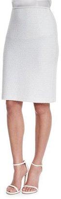 St. John Collection Triade Knit Pencil Skirt, Cream Multi $595 thestylecure.com