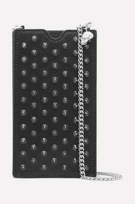 Alexander McQueen Studded Leather Phone Case - Black