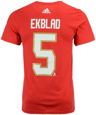 adidas Men Aaron Ekblad Florida Panthers Silver Player T-Shirt