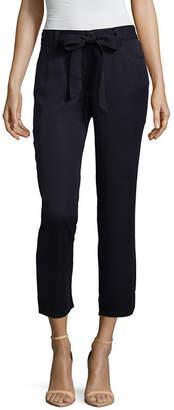 Liz Claiborne Straight Leg Tie Waist Chino Pants