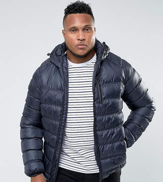 Bellfield Plus Lightweight Padded Jacket With Hood