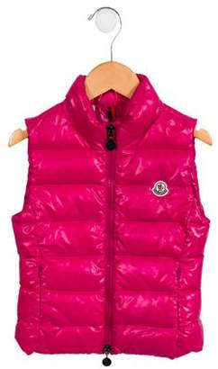 Moncler Girls' Quilted Down Vest