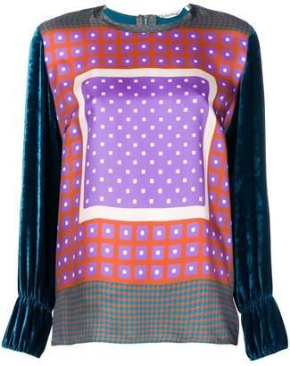Le Sarte Pettegole velvet blouse