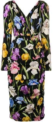 Dolce & Gabbana floral print long sleeve dress