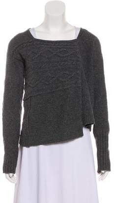 Elizabeth and James Wool Cable Knit Cardigan