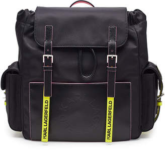 Karl Lagerfeld Paris K/Neon Backpack with Leather