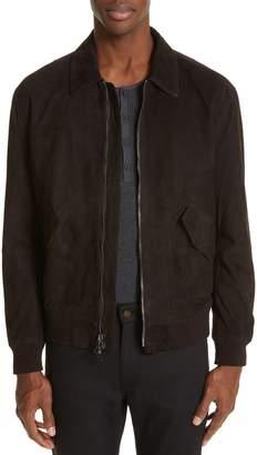 John Varvatos Suede Flight Jacket