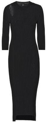 Joseph Cotton-blend ribbed knit midi dress