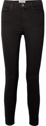 Current/Elliott The High Waist Stiletto Skinny Jeans - Black