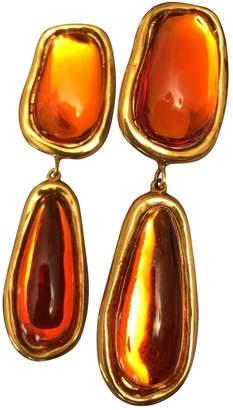 Jean Louis Scherrer Vintage Jean-louis Scherrer Orange Metal Earrings