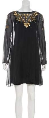 Temperley London Silk Embellished Dress w/ Tags