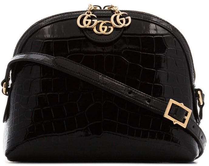 3696e6bca56 Gucci black Ophidia Crocodile Skin Shoulder Bag - ShopStyle
