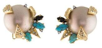 Alexis Bittar Mosaic Futurist Button Clip-On Earrings