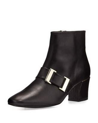 Delman Chill Leather Buckle Bootie, Black $498 thestylecure.com