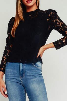 Olivaceous Black Lace Blouse