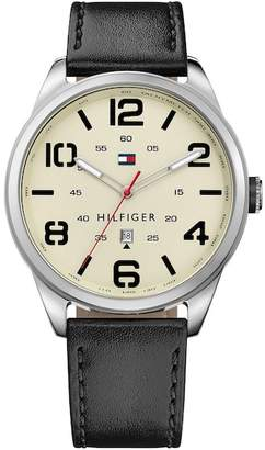 Tommy Hilfiger Men's Connor Leather Watch, 44mm