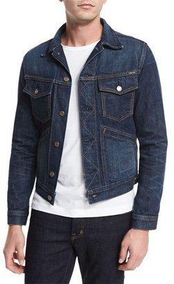 TOM FORD Western Denim Jacket, Blue $790 thestylecure.com