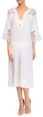 Lise Charmel Plunging Coverup Dress with Lace Insets
