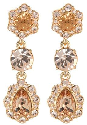 Givenchy Triple Drop Crystal Earrings