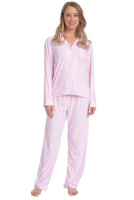Wanted Women's Lightweight Silky Soft Long Sleeve PJ Set (, L)