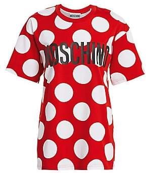 Moschino Women's Oversized Polka-Dot Tee