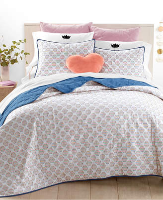 ... Martha Stewart Collection Whim By Collection Rainbow Hexagon 3 Pc.  Full/Queen Quilt