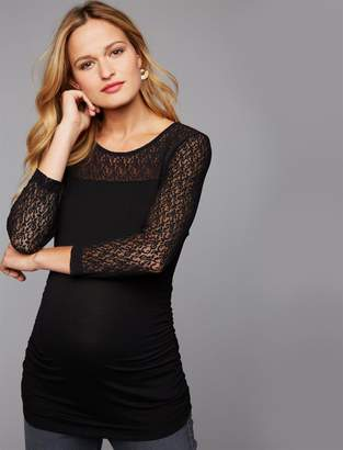 Isabella Oliver Evy Lace Sleeve Maternity Top
