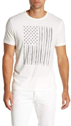 John Varvatos Zipper Star Studded Flag Graphic Tee