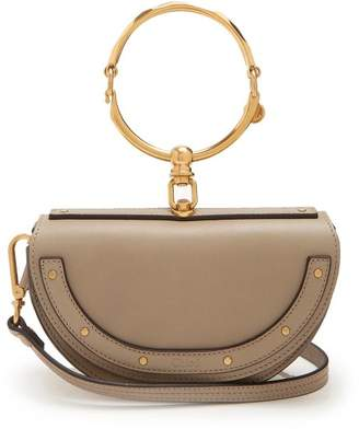 Chloé Nile Minaudiere Leather Clutch - Womens - Grey