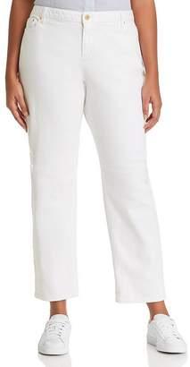 MICHAEL Michael Kors Distressed Boyfriend Jeans in White