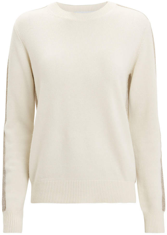 Ivory Lurex Stripe Sweater