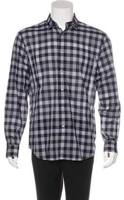 John Varvatos 2015 Plaid Woven Shirt
