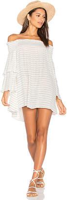 FAITHFULL THE BRAND Spanish Sahara Dress In Luca Stripe Print in White $137 thestylecure.com