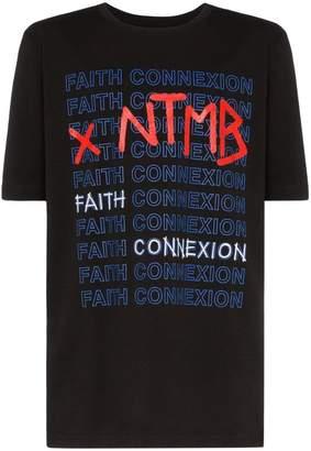 Faith Connexion X NTMB logo cotton T-shirt