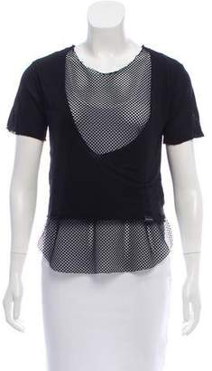 Koral Mesh-Accented T-Shirt