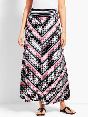 Talbots Fresh Stripe Jersey Maxi Skirt