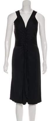 Temperley London Ruffle-Accented Midi Dress