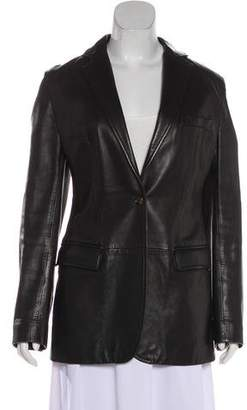 Dolce & Gabbana Notch-Lapel Leather Jacket