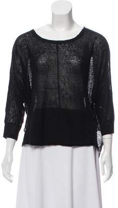 360 Sweater Semi-Sheer Linen Sweater