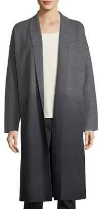 Eileen Fisher Ombre Boiled Wool Kimono Coat